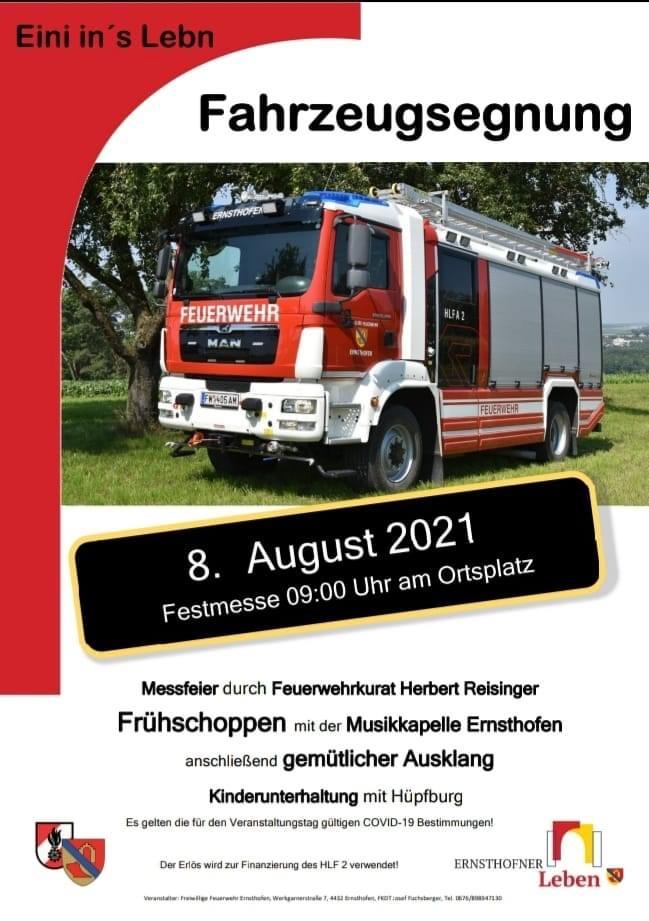Fahrzeugsegnung Freiwillige Feuerwehr Ernsthofen